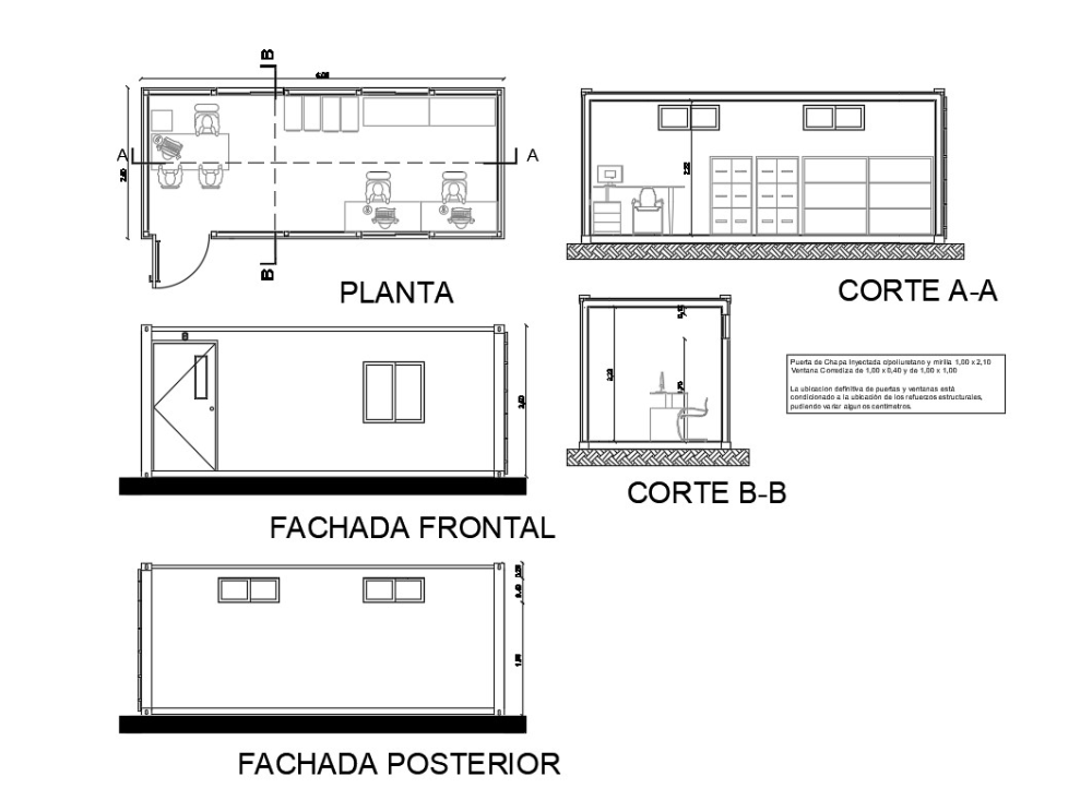 Office cabin elevation, section and plan details dwg file - Cadbull  Office cabin elevation, section and plan details dwg file – Cadbull  #Cabin #Cadbull #details #dwg #elevation #File #Office #Plan #Section