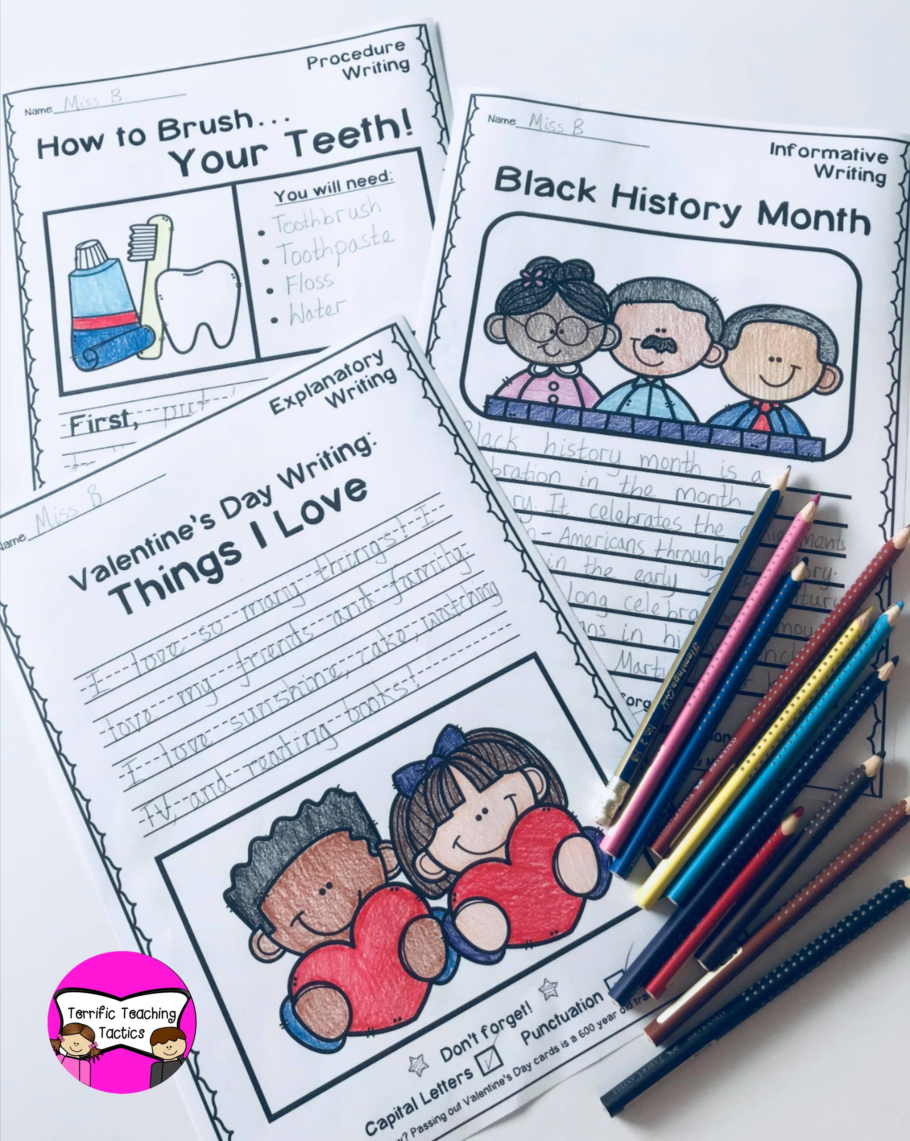 February Writing Prompts Worksheets In With Images