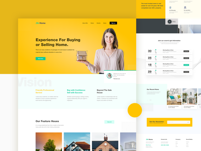 Real Estate Agent Landing Page Landing Page Web Inspiration Elearning