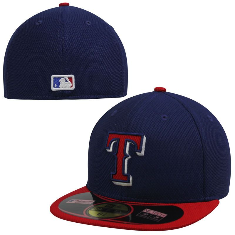 purchase cheap 60ca2 2cc92 Texas Rangers New Era On Field Diamond Era 59FIFTY Fitted Hat - Navy Red