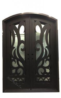Inferno Eyebrow Top Double Entry Iron Doors | Universal Iron…