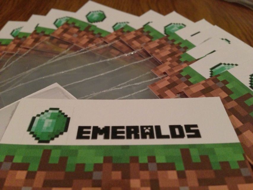 Minecraft Party CRAFTING TABLE Goody Bag Birthday Package Kit INSTANT DOWNLOAD - YOUR PARTY SOLVED