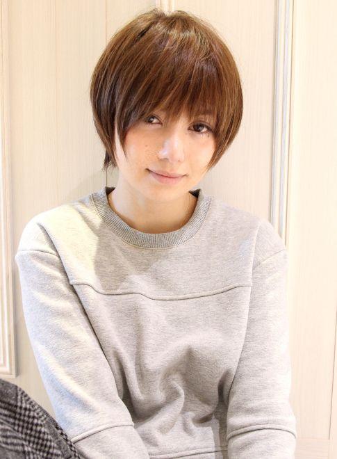 大人女子 田中美保さん風ショート 髪型ショートヘア カワイイ髪型