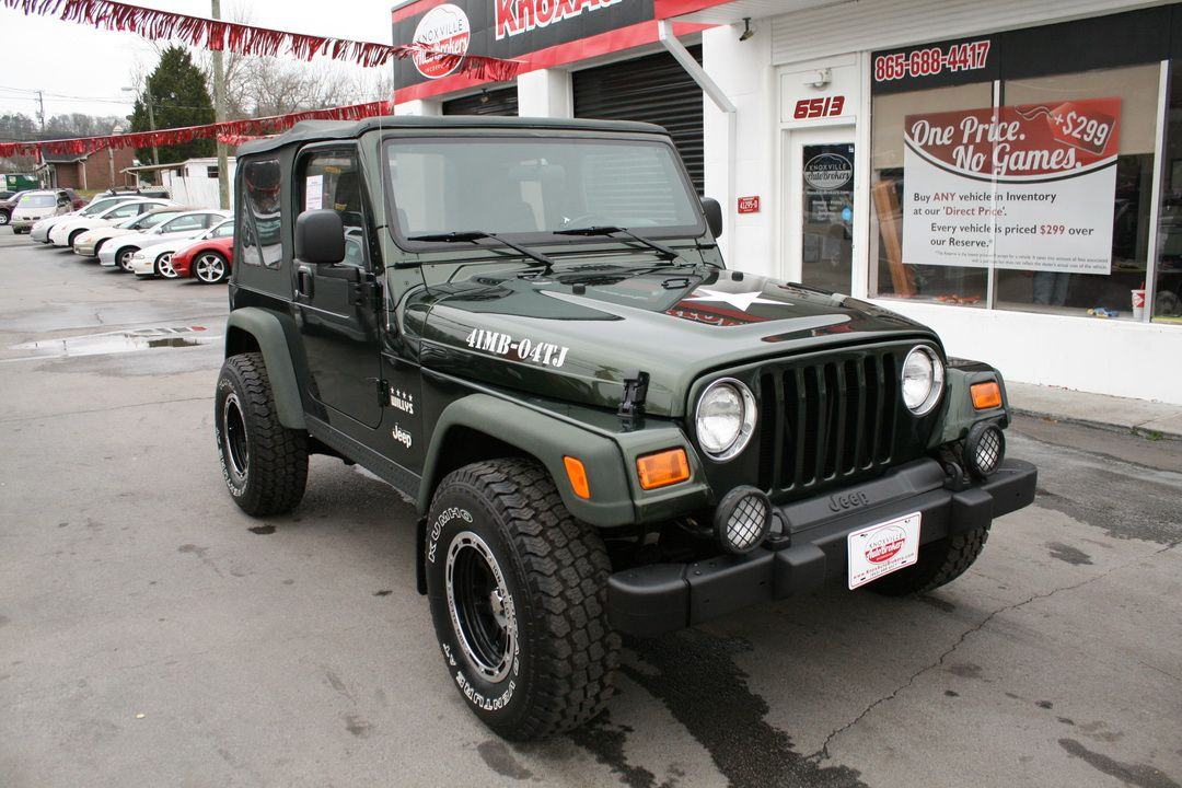 Used 2004 Jeep Wrangler For Sale Knoxville Tn Willy S Edition Wrangler 12 700 00