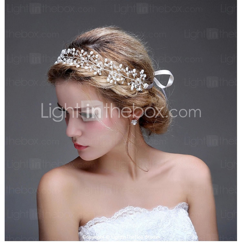 imitation pearl alloy headbands flowers hair tool hair stick