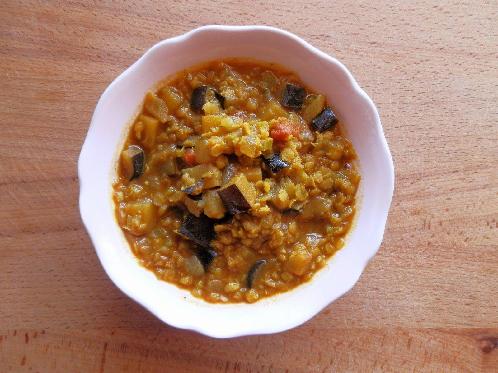 A Cozinha da Ovelha Negra: Caril de beringela e lentilhas - Meatless Monday