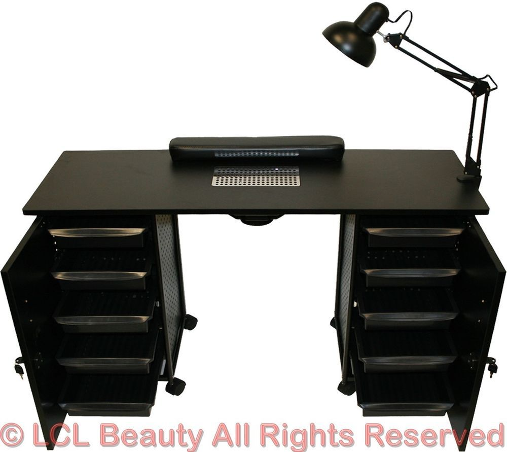 Details about Vented Manicure Nail Table Station Black