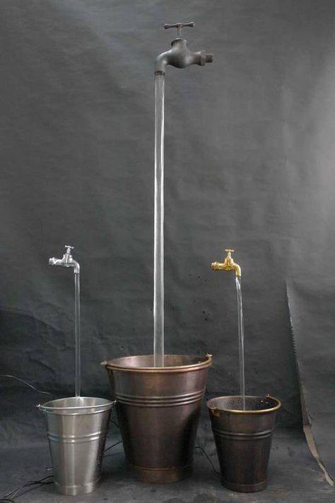 Verschiedene Wasserhahn Brunnen