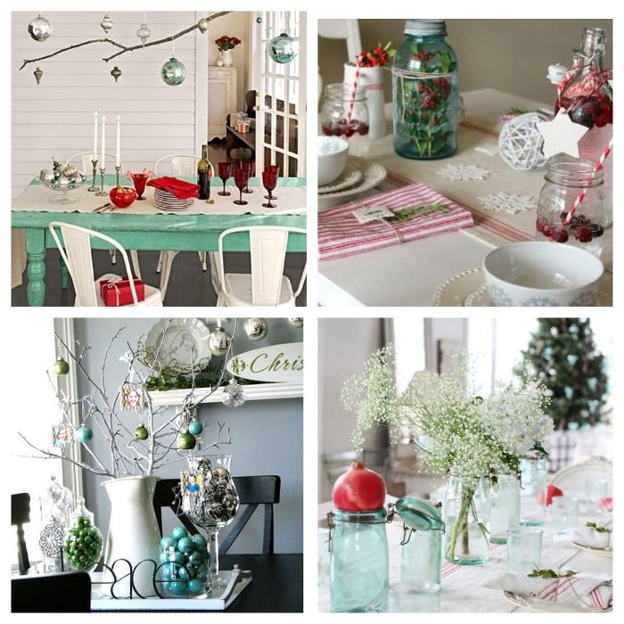 Henge julepynten over bordet