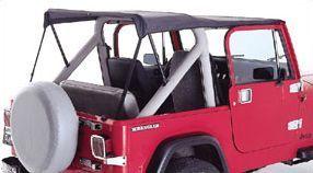 Rugged Ridge Roll Bar Top Black Denim 87 91 Jeep Wrangler Yj