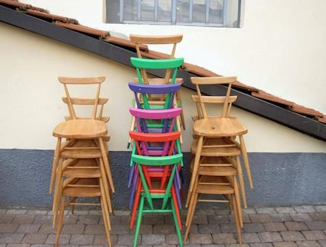 Design Sleuth Ercol Stacking Dining Chairs With Images Ercol