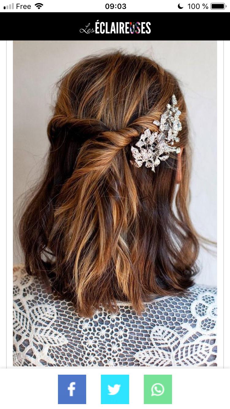 Epingle Par Elena Yegian Sur Coiffure Coiffure Mariage Coiffure Invitee Mariage Cheveux Mi Long