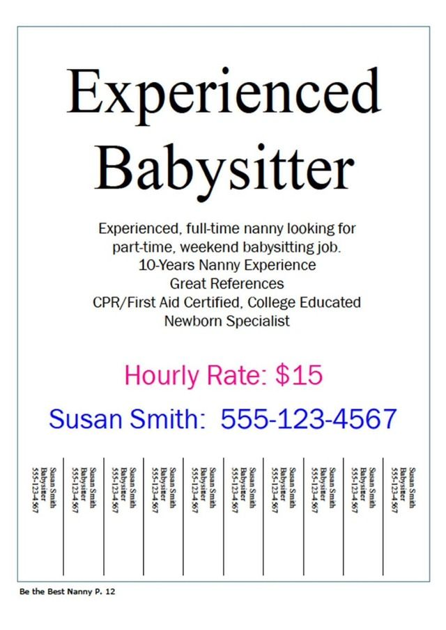 Are You 15 Or Younger And Need A Job To Earn Some Extra Cash Babysitting Jobs Nanny Jobs Need A Job