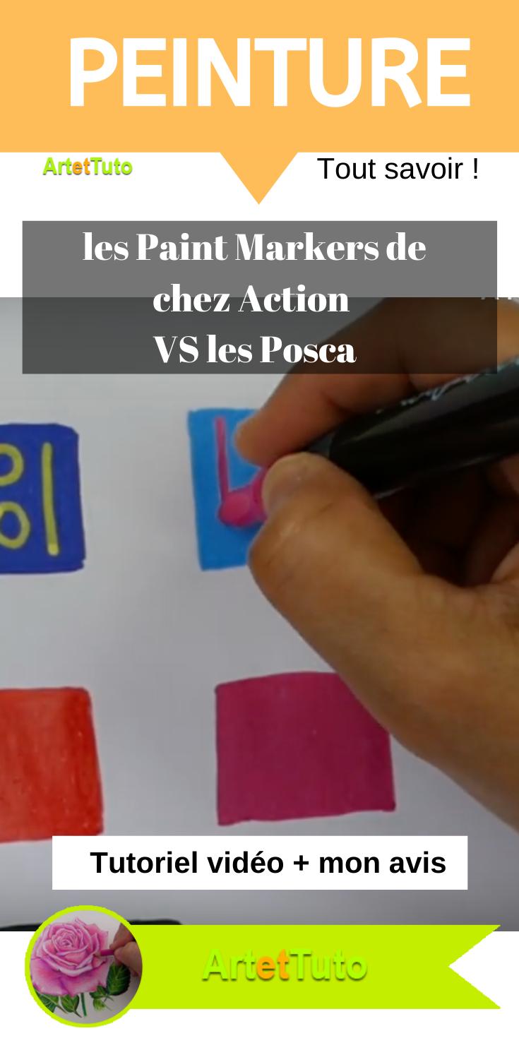 Faire Du Coloriage Avec Les Paint Markers De Chez Action En Comparaison Avec Les Posca Je Vous Fais Un Comparatif Video Et Vous Donne Mon Avis Sincere In 2020 Paints