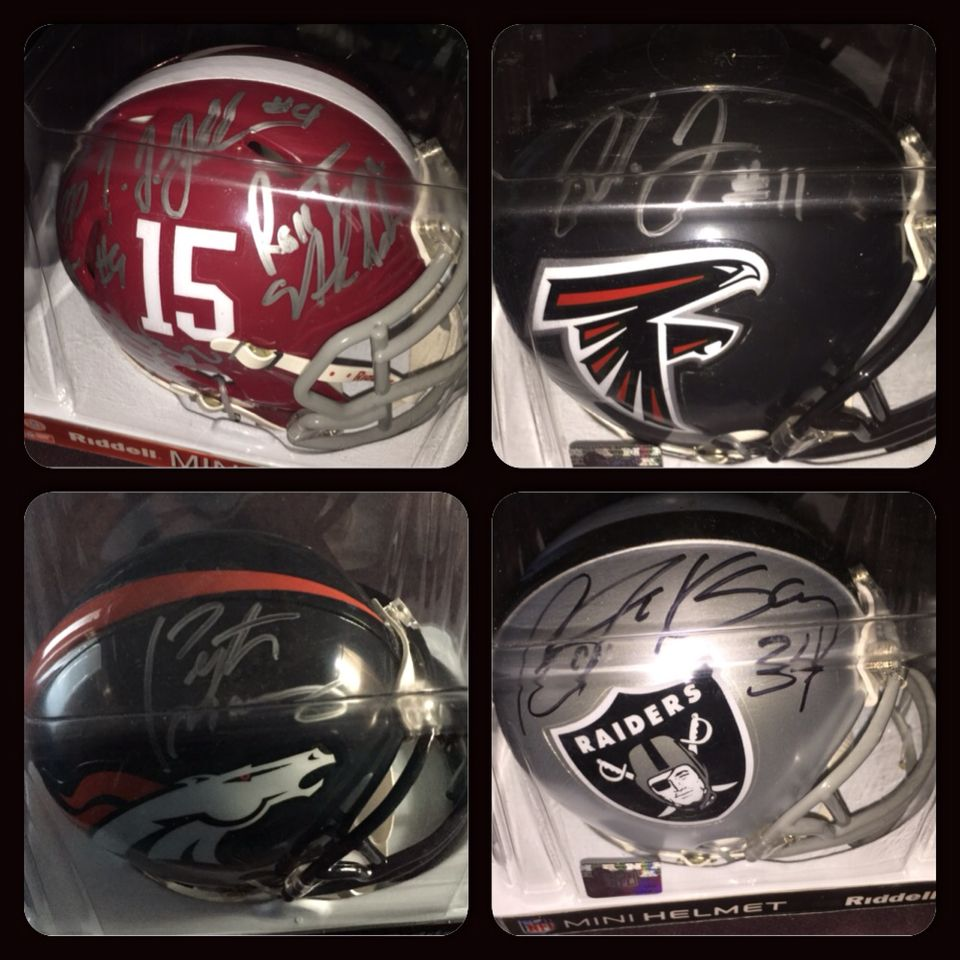 More Silent Auction Items We Have Autographed Mini Helmets From Alabama Julio Jones Payton Manning Bo Jackson That Glow Party Silent Auction Auction Items
