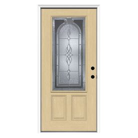 Reliabilt Decorative Prehung Inswing Fiberglass Entry Door