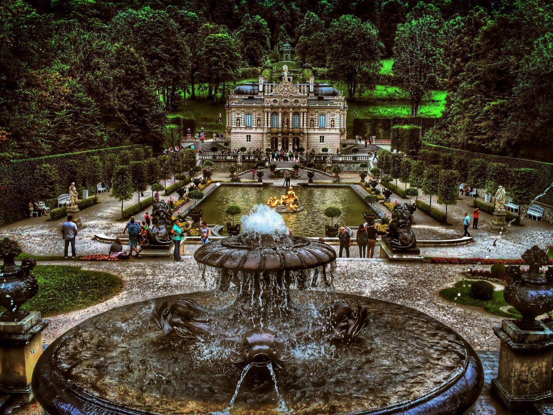 Linderhof Palace Ettal Abbey Bavaria Germany Linderhof Palace Huge Houses Germany