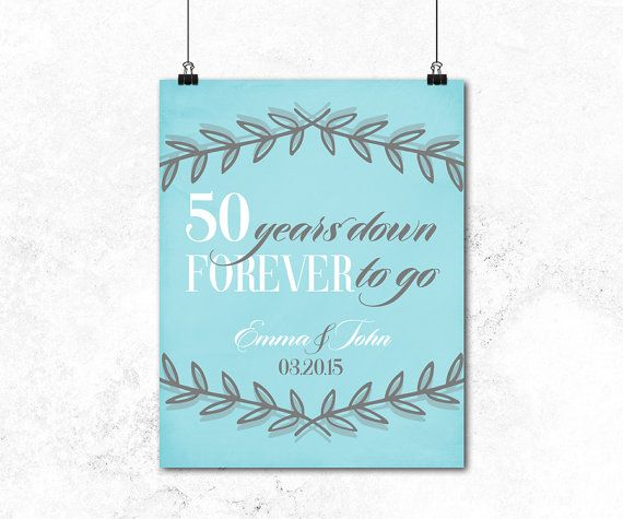 Wow Your Husband Wife Or That Special Couple With The Perfect Personalized 50th Anniversary Gift