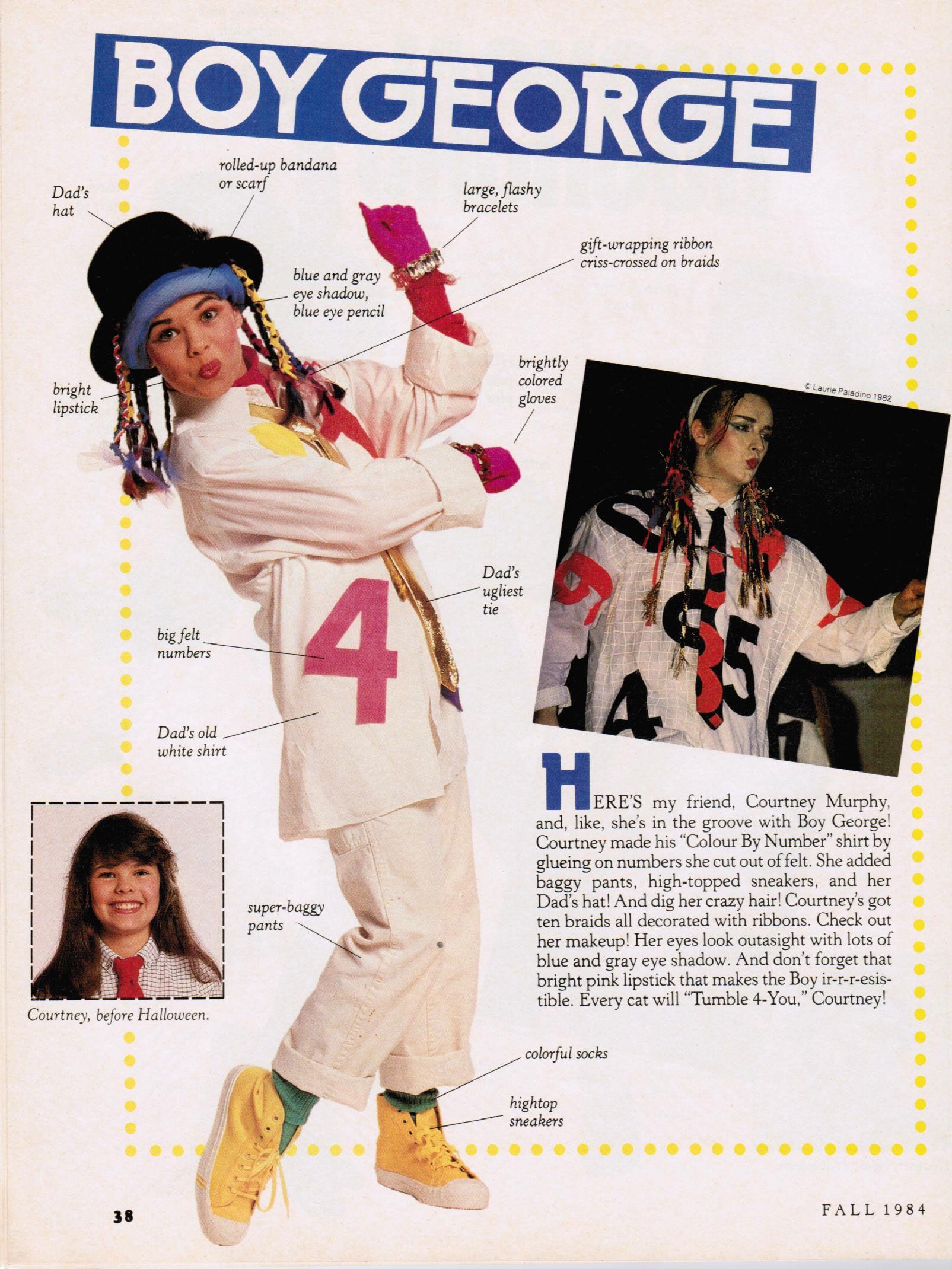 muppet magazine, fall 1984 — halloween superstars: boy george