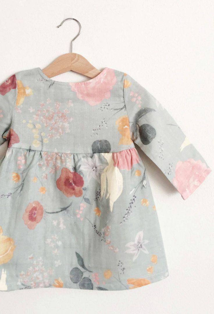 Little Girls Handmade Vintage Style Floral Dress
