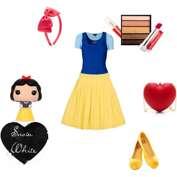 """DIY Costume - SNOW WHITE !"" by kryscake on Polyvore"