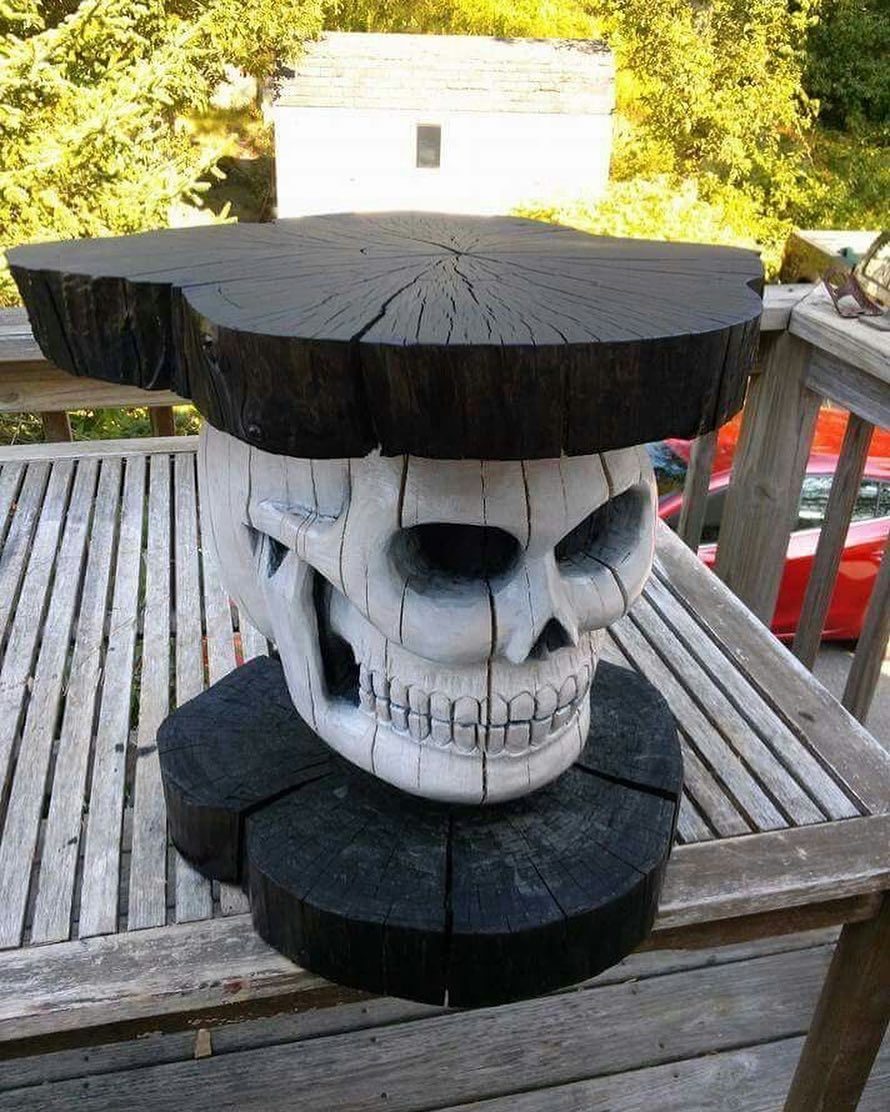 "911 Me gusta, 15 comentarios - Home Sweet Hell  (@homesweethell) en Instagram: ""Skull Table  designer unknown"""