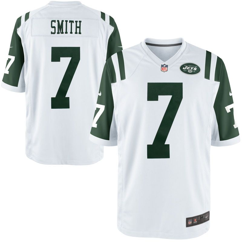 check out 24326 da295 Geno Smith New York Jets Nike Youth Game Jersey - White ...