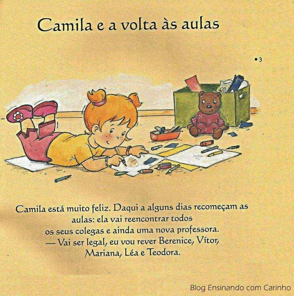 Camila E A Volta As Aulas Para Imprimir Aulas Educacao Infantil
