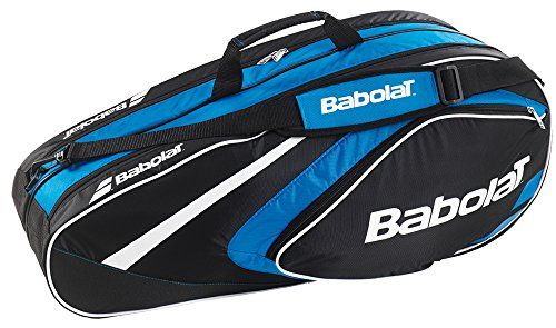 Babolat Club Line 6 Racquet Bag Blackblue Want To Know More Click On The Image Tennis Bags Racquet Bag Tennis Backpack