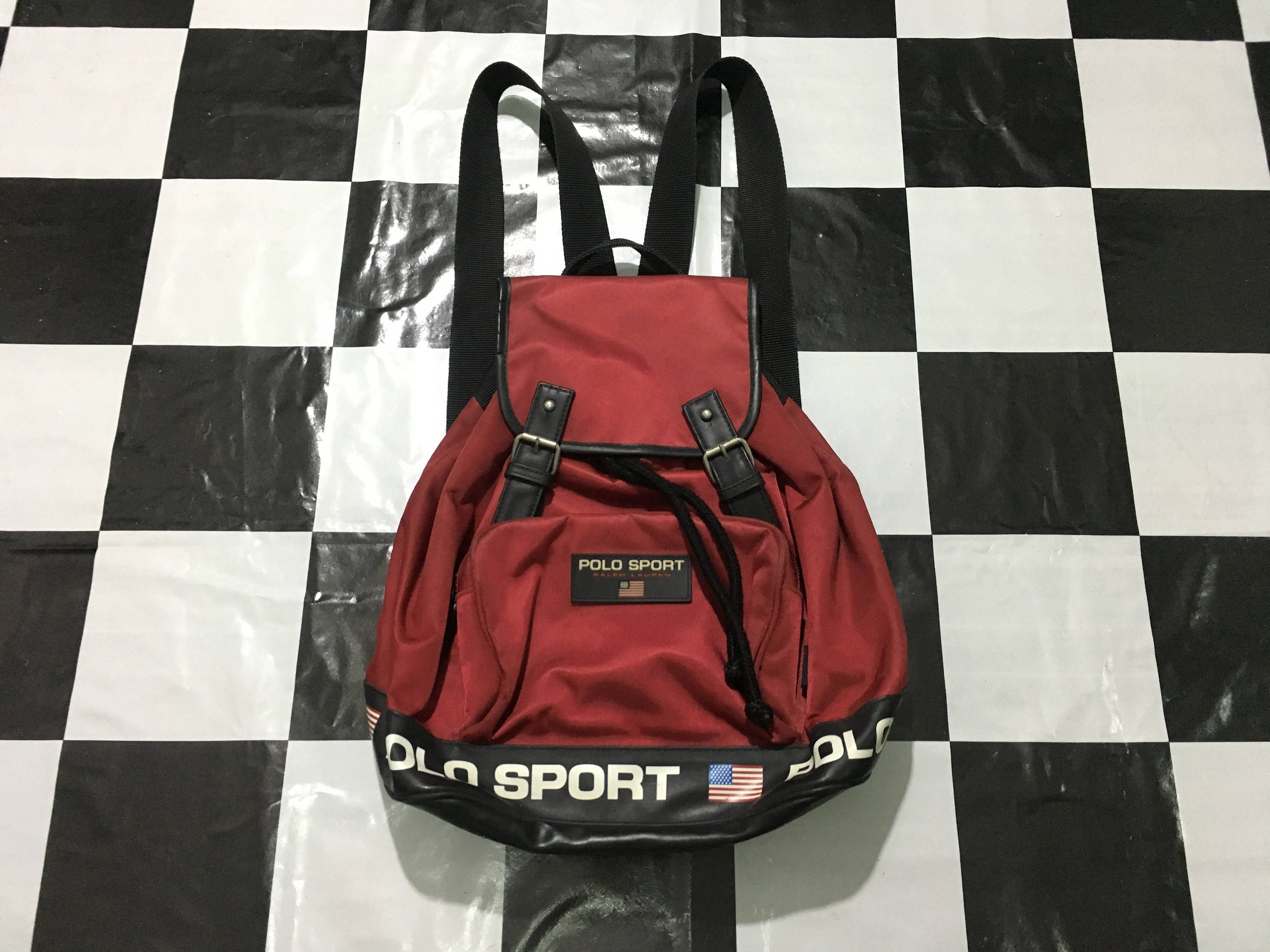 a56a2fb4ee Vintage Polo sport ralph lauren backpack rucksack bag red Excellent  condition by AlivevintageShop on Etsy