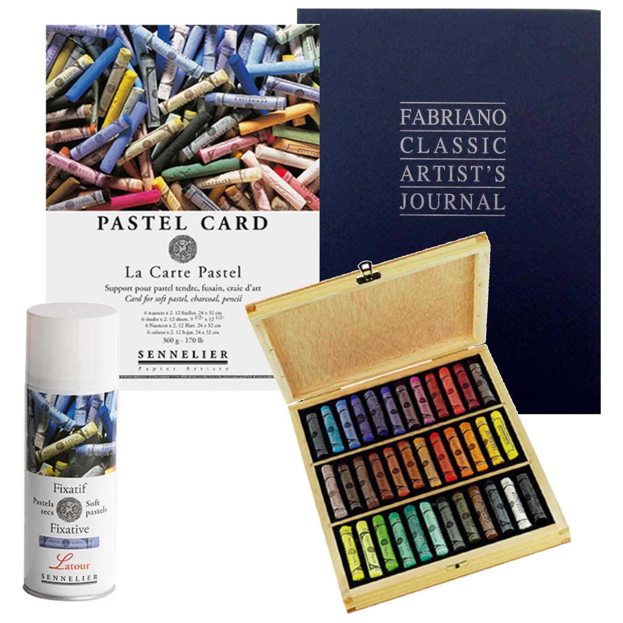 Art Bundle Set 1 X Sennelier Boxed Set Of 36 Extra Soft Pastels 1x