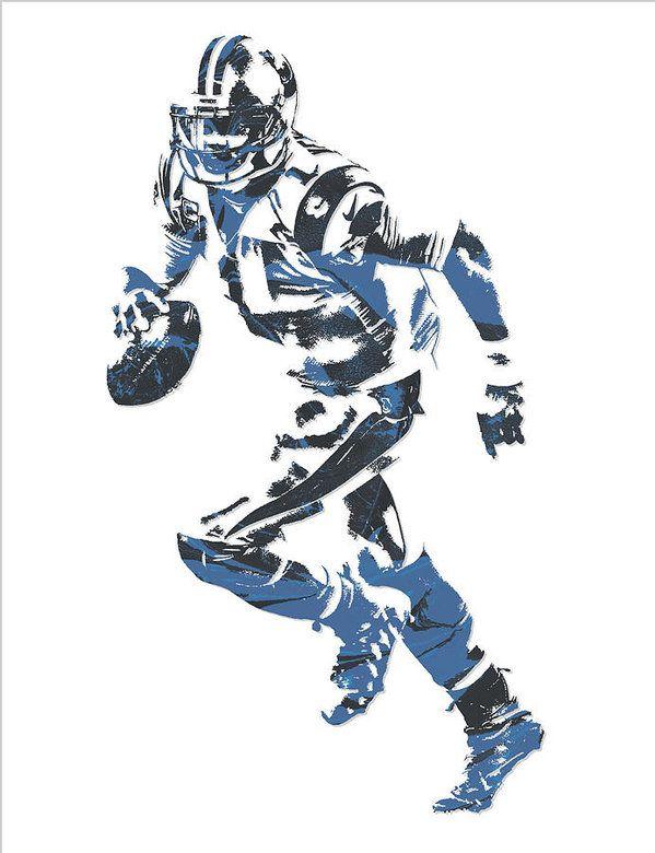 b8f2efae Cam Newton Carolina Panthers Pixel Art 10 Art Print | NFL PIXEL ART ...