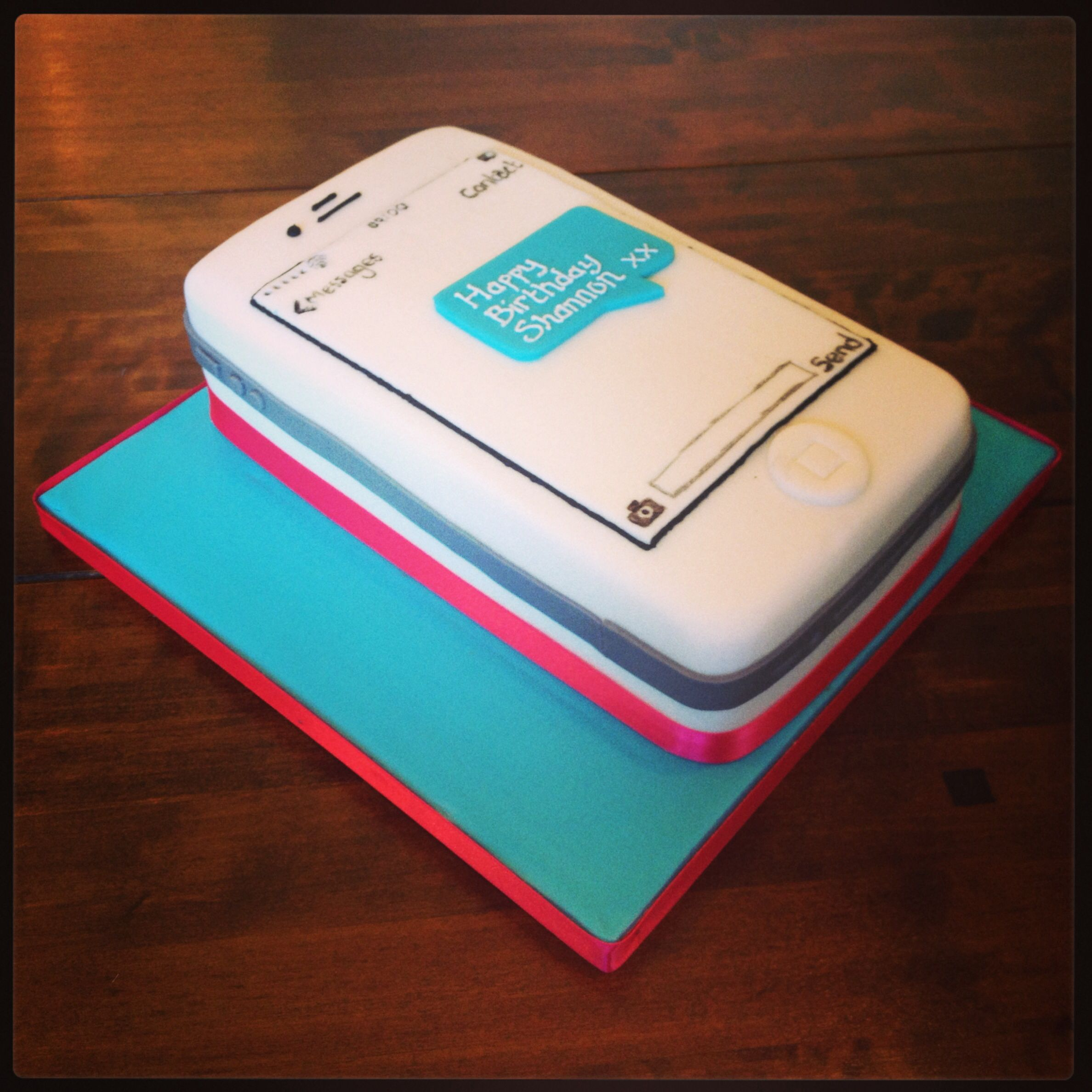 Awe Inspiring Iphone Birthday Cake Recipe Funny Birthday Cards Online Aeocydamsfinfo