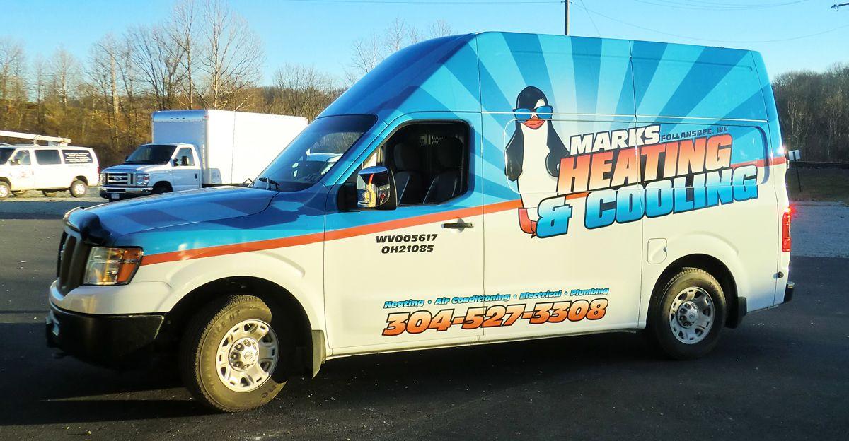 Marks Heating Cooling Logo Van Wrap On Behance Con Imagenes Graficos