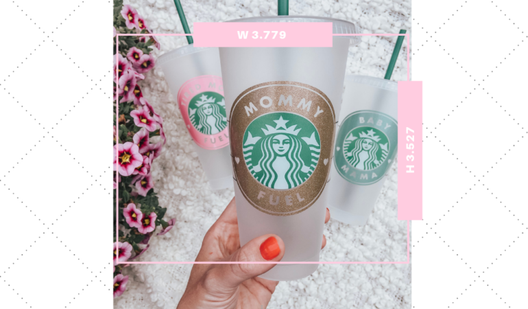 Updated Decal Size Guide For Starbucks Cups Kayla Makes Starbucks Cups Starbucks Starbucks Diy