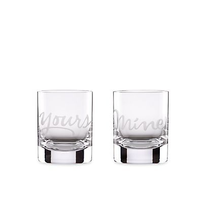 Kate Spade Yours & Mine High Old Fashioned Glasses