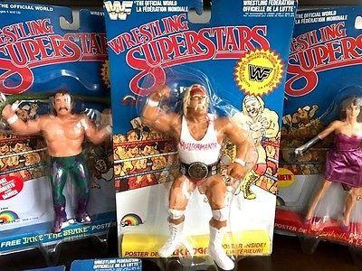LJN WWF Wrestling Superstars Hulk Hogan White Shirt BLUE CARD MOC WWE WCW