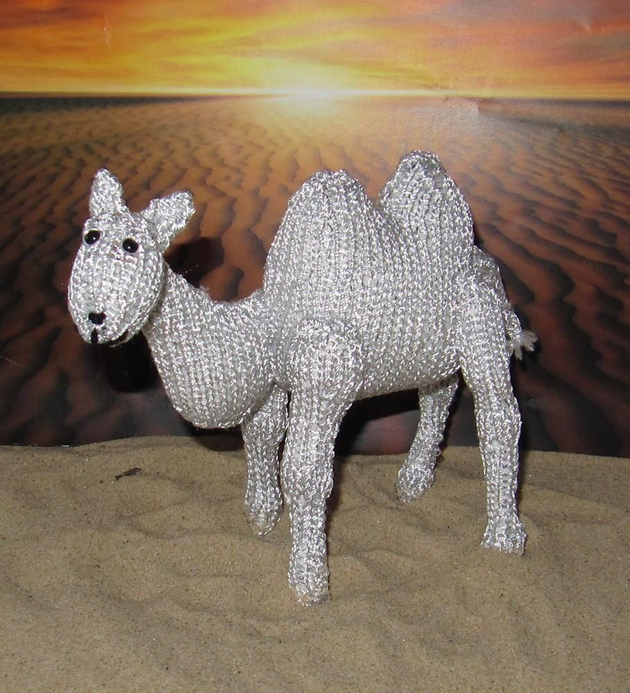 Silver Camel Toy Animal | Metallic yarn, Knit patterns and Camels