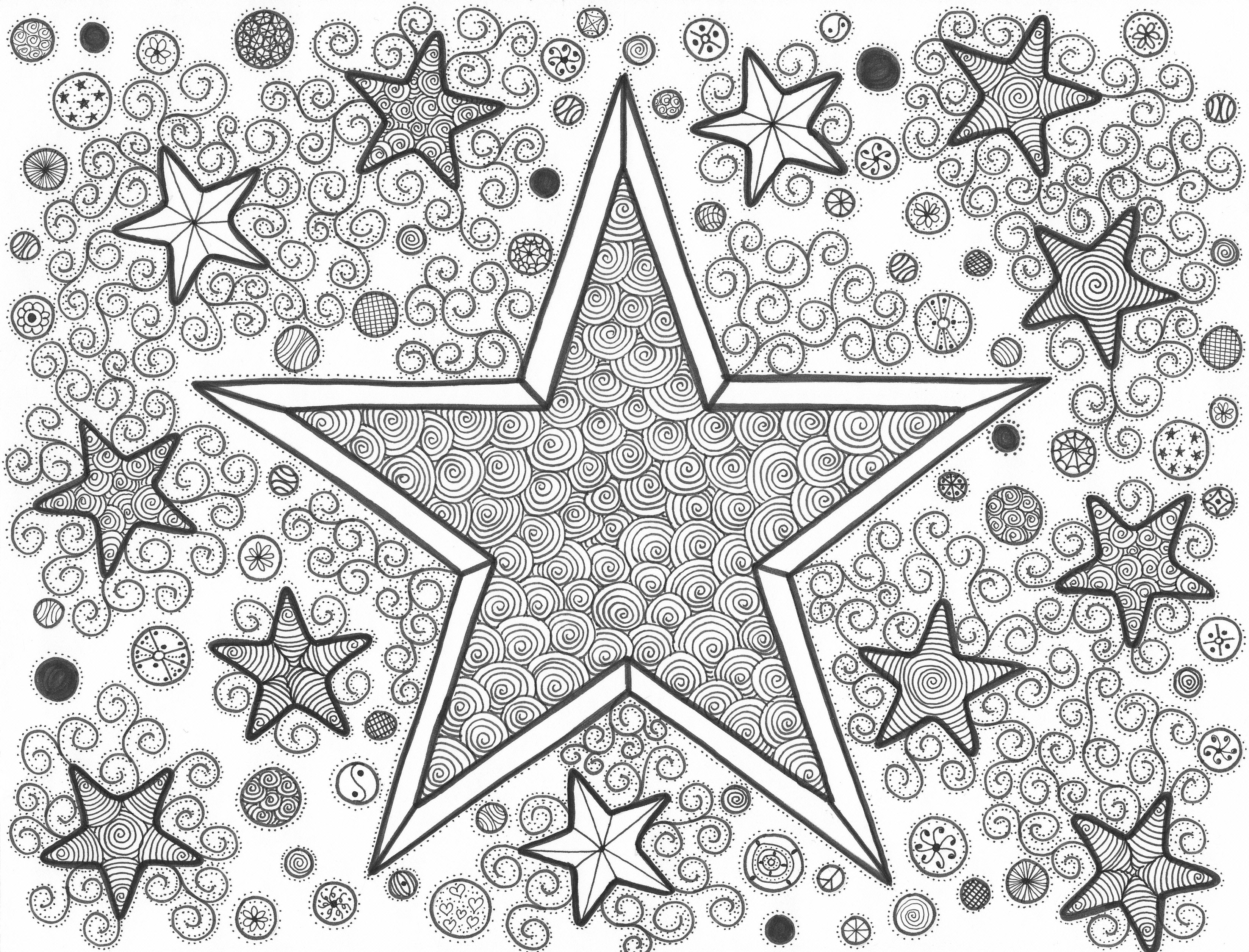 The stars original artwork by cat magness my doodles for Stars in the sky coloring pages