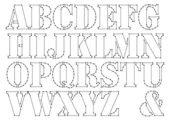 Fadenbilder Nägeln Buchstaben Vorlagen Ausdrucken Basteln