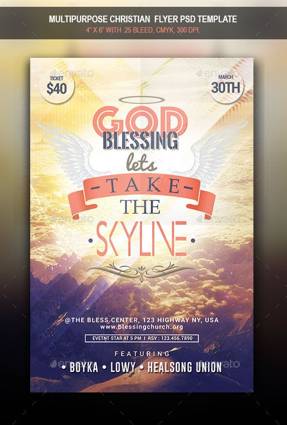Multipurpose Christian Flyer Christian Fonts And Flyer Template