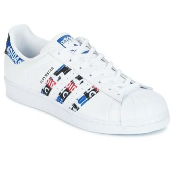 Adidas Originals SUPERSTAR Blanc / Rouge pas cher prix Baskets Femme Spartoo 99.95 €