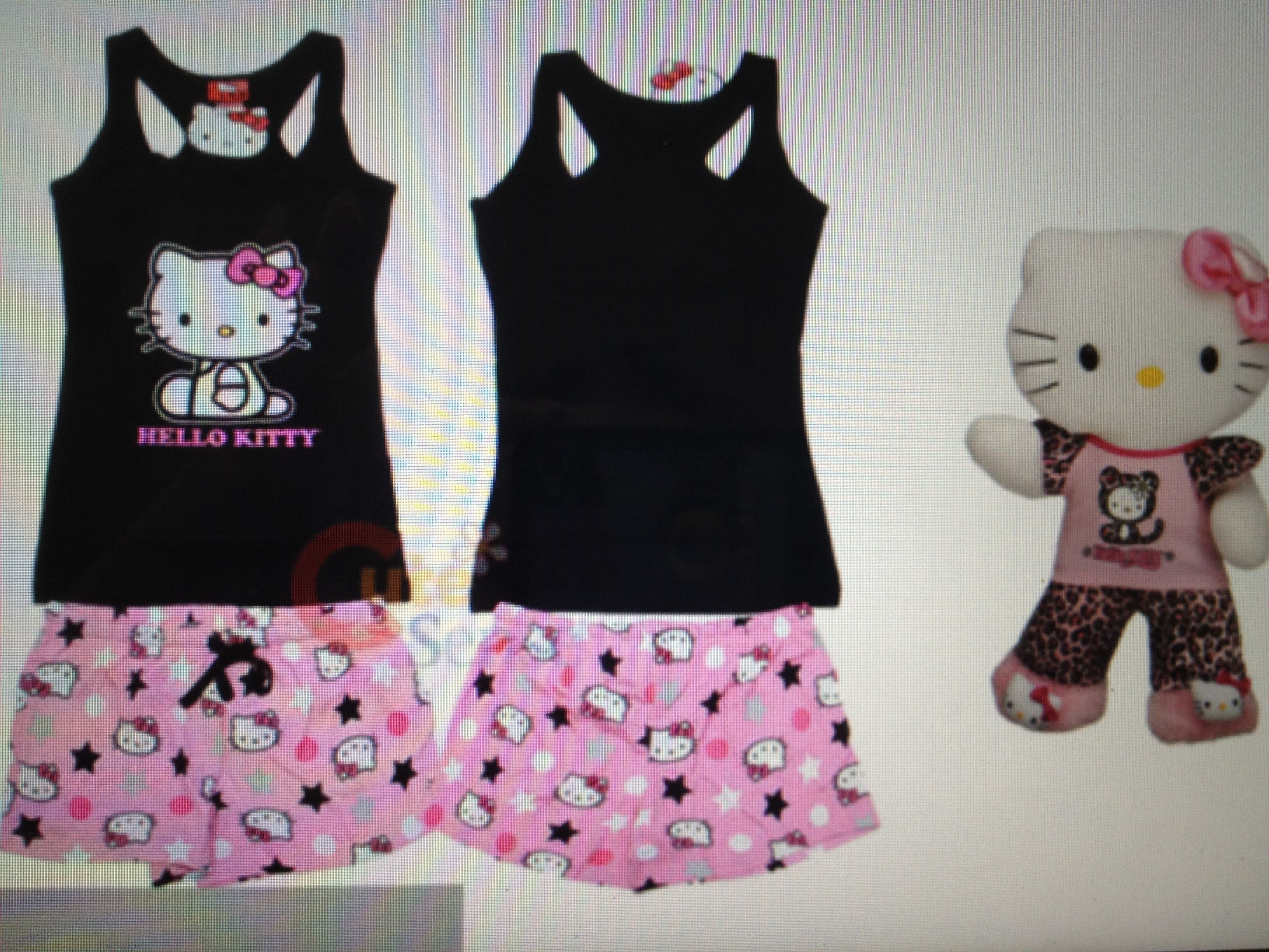 Stuffed Hello Kitty And Hello Kitty Pajama Set