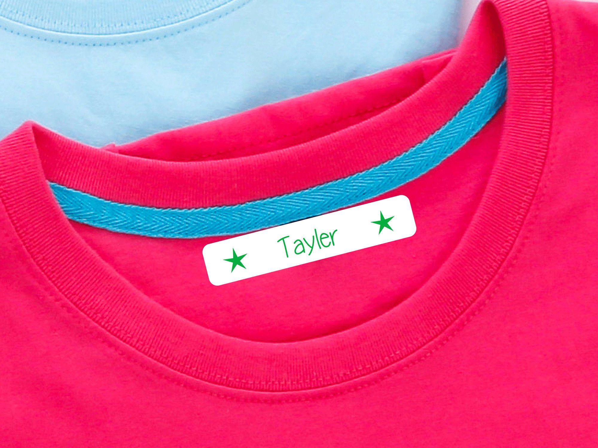 Wäscheetiketten Namensetiketten aufbügeln bügeln einbügeln Namenschilder