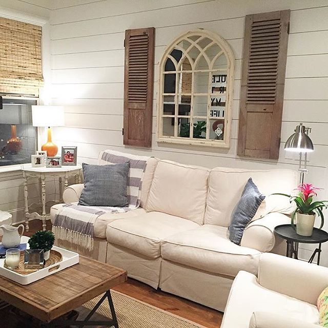We Love How Athomeonstcharles Displayed Our Arch Mirror Over Her Sofa For A Decorative Wall Mirror Decor Living Room Living Room Remodel Coastal Living Rooms