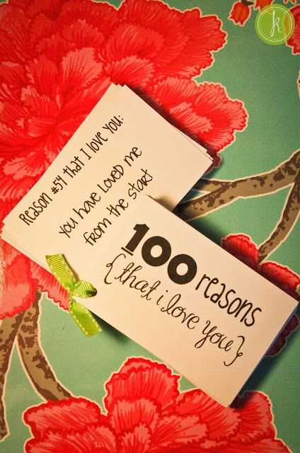 100 Reasons Why I Love You As A Gift Adorable Love With Images