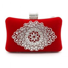 Rhinestone Evening Bag Velvet Clutch Purse | Clutch/Evening bag ...