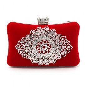 Rhinestone Evening Bag Velvet Clutch Purse | Clutch/Evening bag ...