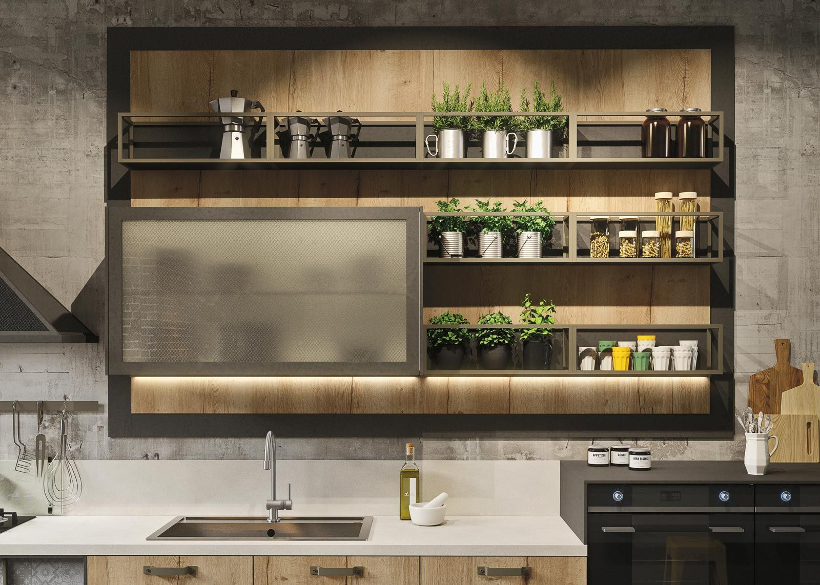 Cucine industrial style: Loft di Snaidero | Inspirado 66 | Pinterest