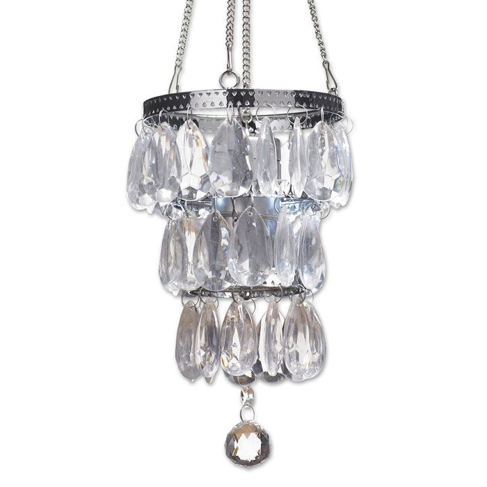 Battery Powered Small Crystal Pendant Light As A Closet